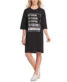 DKNY Cotton Graphic T-Shirt Dress