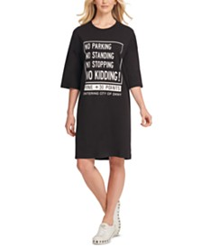 DKNY Cotton Graphic T-Shirt Dress