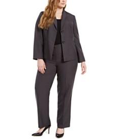 Le Suit Plus Size Blazer & Pants Suit