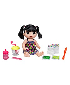 Baby Alive Sweet Spoonfuls Black Straight Hair Baby