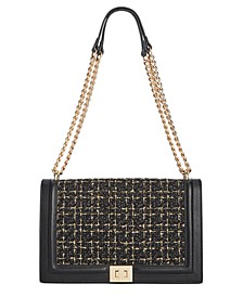 INC Ajae Flap Boucle Crossbody, Created For Macy's