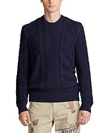 폴로 랄프로렌 스웨터 Polo Ralph Lauren Mens Cotton Long Sleeve Sweater,헌터 Hunter Navy