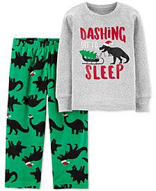 Carter's Toddler Boys 2-Pc. Holiday Dino Pajamas Set