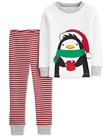 Carter's Toddler Boys 2-Pc. Cotton Holiday Penguins Pajamas Set