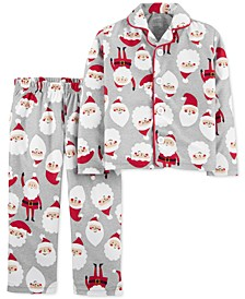 Toddler Boys 2-Pc. Fleece Santa Pajamas Set