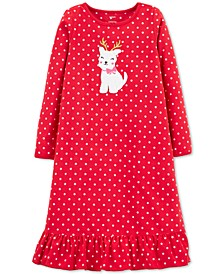 Little & Big Girls Fleece Reindog Nightgown