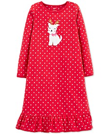 Carter's Little & Big Girls Fleece Reindog Nightgown