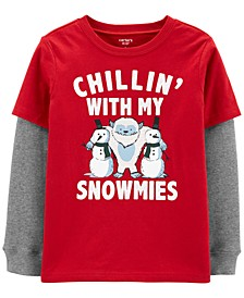 9/3 BPW Red Snowmies Tee Xmas Boys LiI & Big
