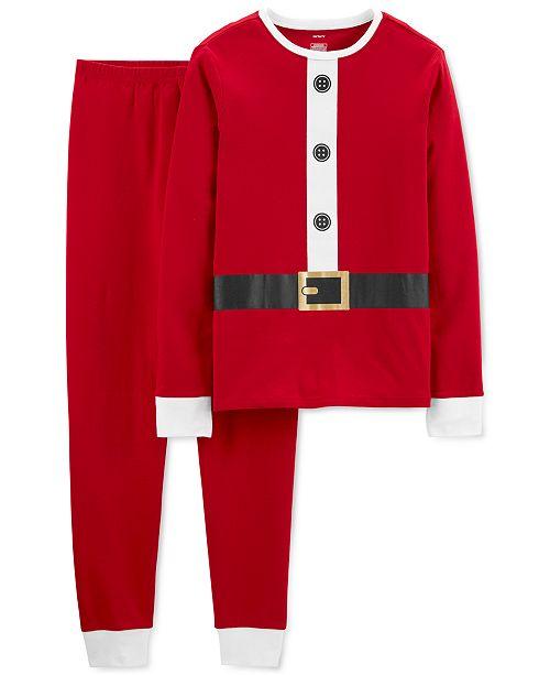 Carter's Adult Unisex 2-Pc. Cotton Santa Suit Pajamas Set