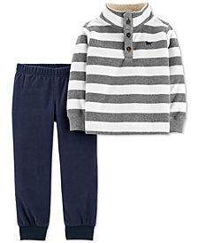 Carter's Baby Boys 2-Pc. Stripe Fleece Sweatshirt & Joggers Set