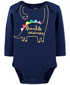 Baby Girls Glitter Dinosaur Collectible Bodysuit