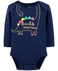 Carter's Baby Girls Glitter Dinosaur Collectible Bodysuit