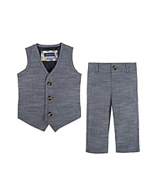 Baby Boy's Chambray Vest and Pant Set