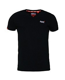 Orange Label Vintage-like Embroidery V-Neck T-Shirt