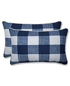 "Anderson Check 11.5"" x 18.5"" Outdoor Decorative Pillow 2-Pack"