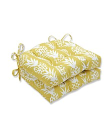 Pineapple Reversible Chair Pad, Set of 2