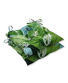 Lush Leaf Jungle Wrought Iron Seat Cushion, Set of 2
