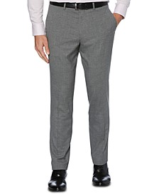 Portfolio Men's Slim-Fit Stretch Heathered Check Dress Pants