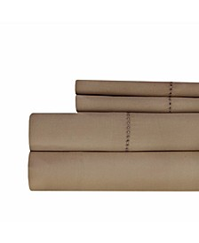 400 Thread Count with Hemstitch 4-PC Solid Full Sheet Set