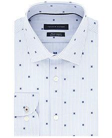 Tommy Hilfiger Men's Slim-Fit Performance Stretch Dot-Print Dress Shirt