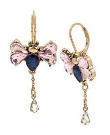 Betsey Johnson Dragonfly Drop Earrings
