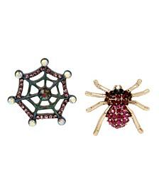 Spider Stud Mismatch Earrings
