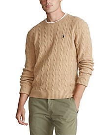 Men's Cashmere Wool Blend Cable-Knit Sweater