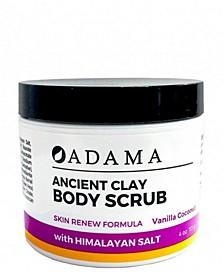 Body Scrub with Sea Salt, Vanilla Coconut, 4 oz
