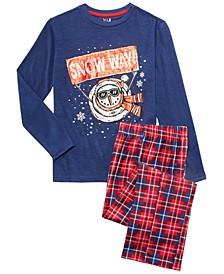 Big Boys 2-Pc. Snow Way Pajama Set