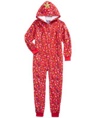 New Boys/' Fleece Footed Pajama Blanket Sleeper Footie Rich Red 10 14 16 18