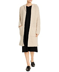Eileen Fisher Hooded Open-Front Cardigan