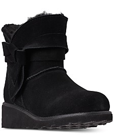 Bearpaw Little Girls' Maxine Wedge Boots from Finish Line