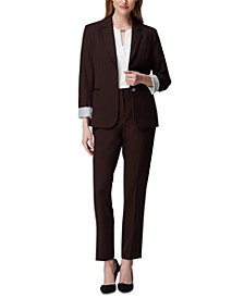Petite Two-Button Cuffed Jacket, Crewneck Top & Angled-Pockets Skinny Pants