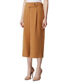 Tahari ASL Cropped Wide-Leg Pants