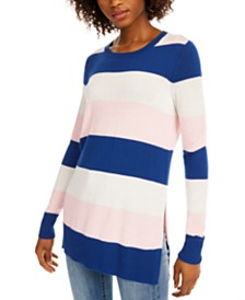 Maison Jules Striped Sweater, Created For Macy's