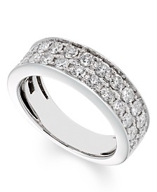 Certified Diamond (1 ct. t.w.) Band in 14K White Gold