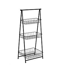 3-Tier Folding A-Frame Shelf
