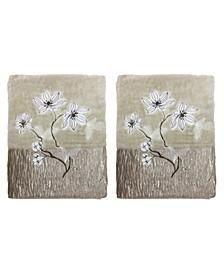 Magnolia Floral 2-Pc. Bath Towel Set
