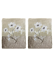 Croscill Magnolia Floral 2-Pc. Bath Towel Set
