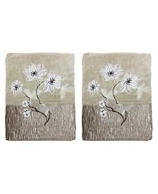 Croscill Magnolia Floral 2-Pc. Bath Towel Set