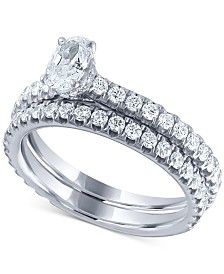 Diamond Oval Bridal Set (1-1/4 ct. t.w.) in 14k White Gold