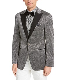 Orange Men's Slim-Fit Silver Dinner Jacket