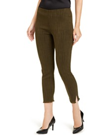 Alfani Petite Fringe-Hem Ankle Pants, Created For Macy's