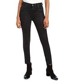 Mia Python Skinny Ankle Jeans