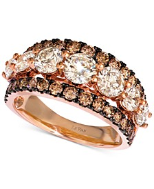 Diamond Statement Ring (3 ct. t.w.) in 14k Rose Gold