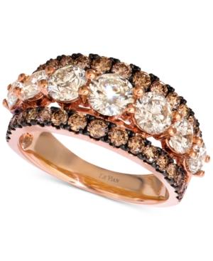 Diamond Statement Ring (3 ct. t.w.) in 14k Rose
