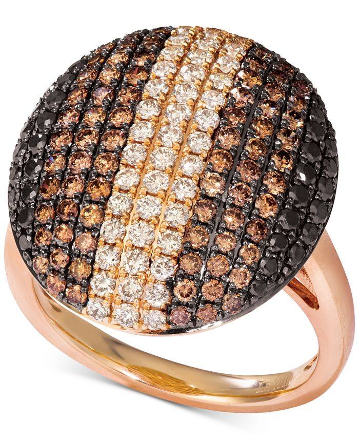 Le Vian - Chocolate Layer Cake® Diamond Statement Ring (1-7/8 ct. t.w.) in 14k Rose Gold