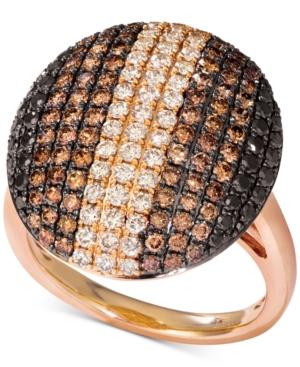 Chocolate Layer Cake Diamond Statement Ring (1-7/8 ct. t.w.) in 14k Rose Gold
