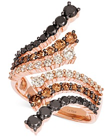 Chocolate Layer Cake® Diamond Bypass Ring (2 ct. t.w.) in 14k Rose Gold