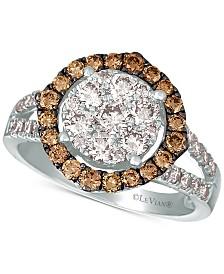 Le Vian® Diamond Statement Ring (1-1/2 ct. t.w) in 14k White Gold
